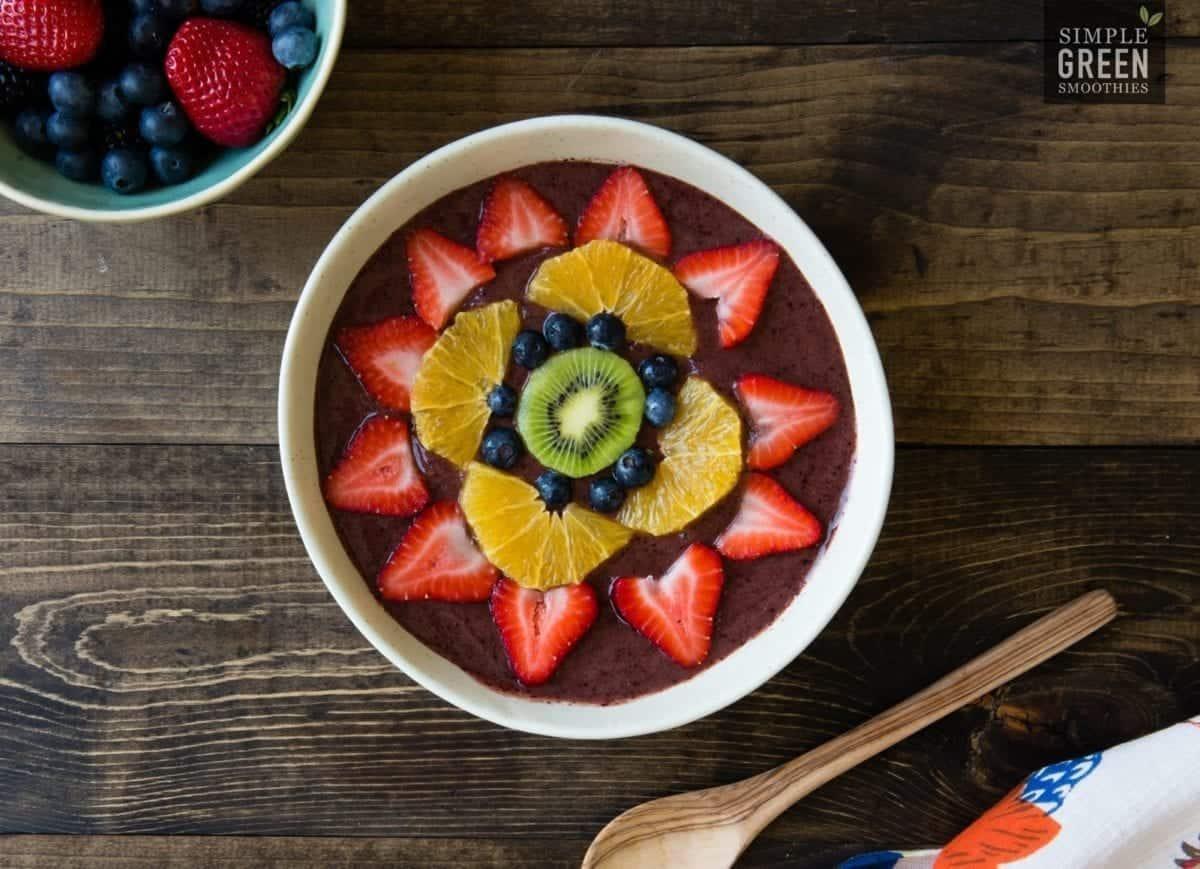 Rainbow Love Green Smoothie Bowl Recipe   SimpleGreenSmoothies.com