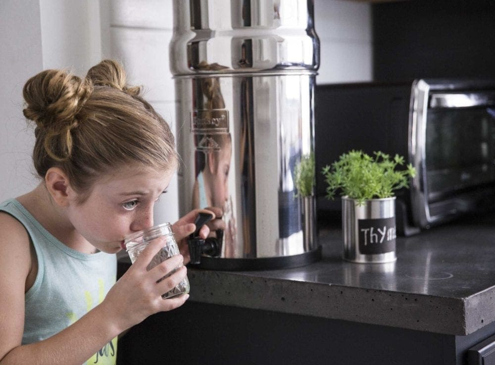Purified water with a Berkey water purifier - Simple Green Smoothies